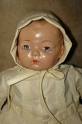 """Vintage 19"""" Madame Alexander Pinkie Pinky Composition BABY DOLL, good condition"""