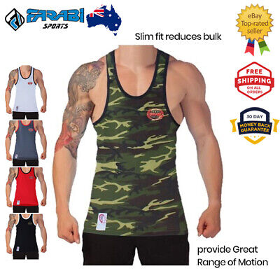 Cotton Tank Top Men's Singlets Gym Training Running