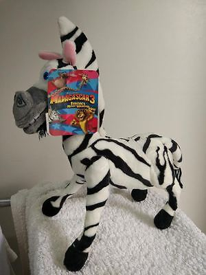 "Madagascar 3 MARTY the Zebra Plush Stuffed tall 26cm Tall (10.5"") Plush Toy, NWT"