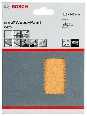 Bosch 2608607459 Schleifblatt C470 Best for Wood+Paint 115x107mm Korn 180