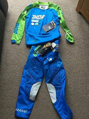 Thor Youth Kids Motocross Kit *New With Tags* Top & Trousers