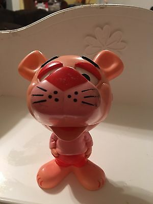Vintage Mattel Chatter Chums Pink Panther Figure 1976 Works With Pull Ring
