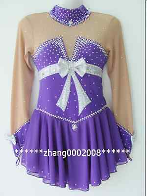 Ice skating dress.New purple Competition Figure Skating / Baton Twirling custome