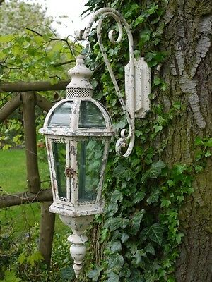 Antique Vintage Large Garden Candle Lantern Hanging Wall Lamp Holder Outdoor