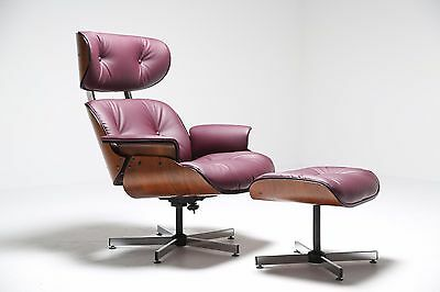 Vintage Mid Century Plycraft USA Lounge chair & ottoman Eames style