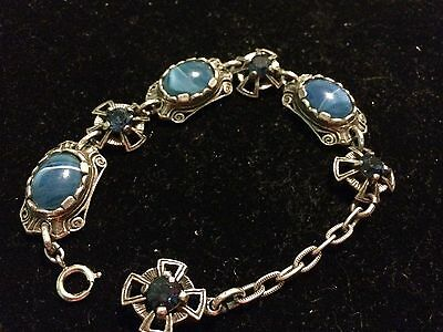 Miracle Celtic Bracelet With Blue Stones Signed