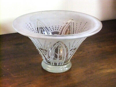 Bowl Cup 1920 glass craft decor Plant bleached sand perfect condition