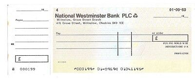 NATIONAL WESTMINSTER BANK Plc - Wilmslow Branch - UNISSUED