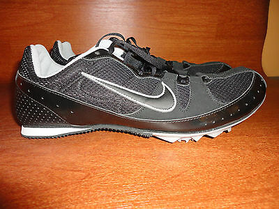 NIKE Mens 11 Womens 12 Zoom Rival Track Field Shoes Cleats No Studs Black