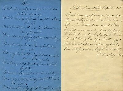 Mid-19th-century Handwritten Poems - 4 manuscript sheets