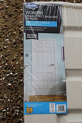 Wickes Woburn Internal Moulded Door. White Finished 6 Panel 1981x762mm.