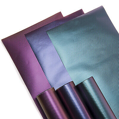 3D Chameleon Carbon Fibre Vinyl Wrap  - 3 GREAT SHADES !!! Bubble Free