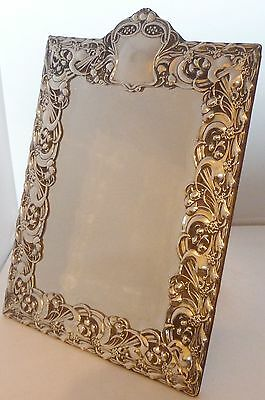 Art Nouveau 1904 Solid Hallmarked Silver Leather Mirror Outstanding Quality