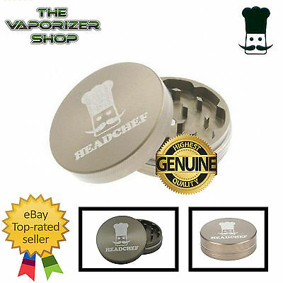Head Chef Top Quality Alluminium Magnetic Grinder Hard Anodised 55mm 2 Pcs