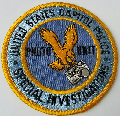 United States Capitol Police Special Investigations Photo Unit Cloth Patch