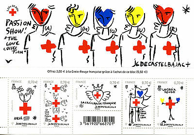 France 2016 MNH Red Cross JC De Castelbajac 5v M/S Health Medical Stamps