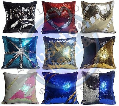 Magic sequin mermaid reversible two tone glitter pillow sofa cushion or cover
