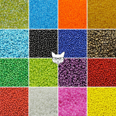 50g Glass Seed Beads Size 11/0 2mm Opaque Pearl Frosted Jewellery Making Craft