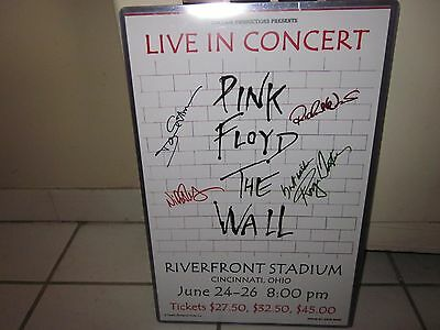 Pink Floyd The Wall Replica Concert Poster W/ Top Loader