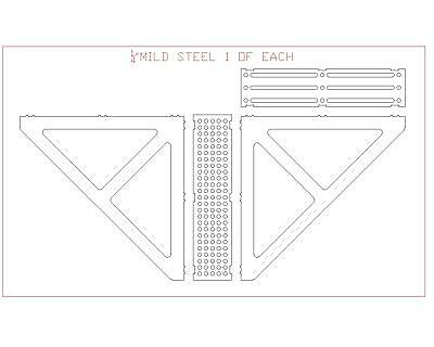 Welding Fixture Table extensions and angle brackets : DXF File