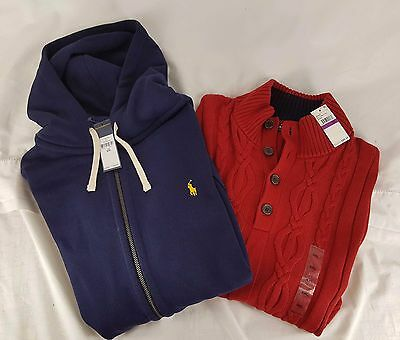 NEW Ralph Lauren Hoodie and Nautica Sweater Lot of 2 NWT MSRP $187 XXL NWT