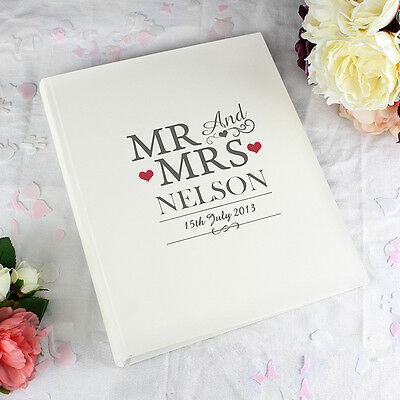 Personalised Mr and & Mrs Traditional Cream Photo Album Wedding Day Gift