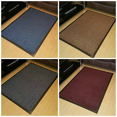 Heavy Duty Non Slip Rubber Barrier Door Mat Mud Buster Rugs Back Hall Kitchen