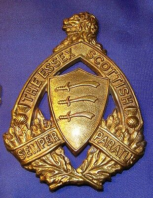 WW2 The Essex Scottish Cap Badge Scully Marked