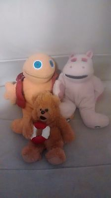 Zippy, Bungle and George from Rainbow Soft Plush toy bundle