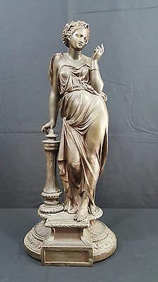 Antique French Spelter  Woman Statue .