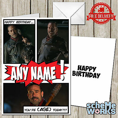 Personalised The Walking Dead Daryl Crossbow Birthday Greeting Card