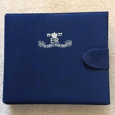 """1977 """"The Queens Silver Jubilee"""" First Issue Stamp Collection Album"""