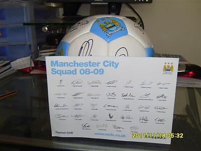 Signed Manchester city football 2008-2009 Direct form the Club