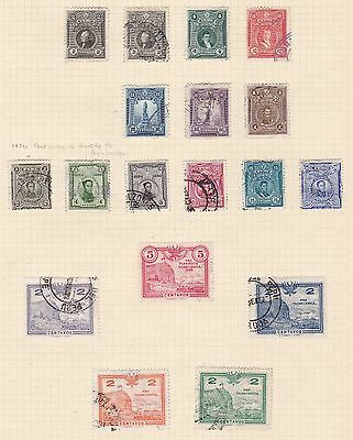 Peru 1924 - 31       2Pages  Various Values  Part Sets  O/prints  Mh & Used