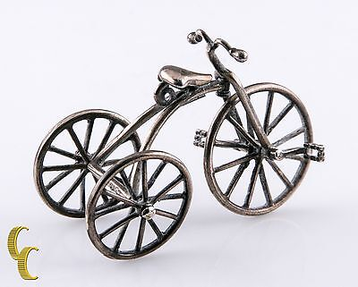 Vintage Miniature Medusa Oro Silver Dollhouse Tricycle