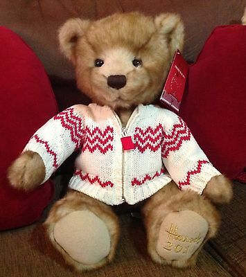 2011 Harrods Teddy Bear Brand new with tags -named Freddie -  Xmas / Christmas