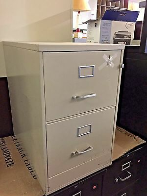 2 DRAWER LEGAL SIZE FILE CABINET by GE OFFICE FURNITURE w/LOCK&KEY