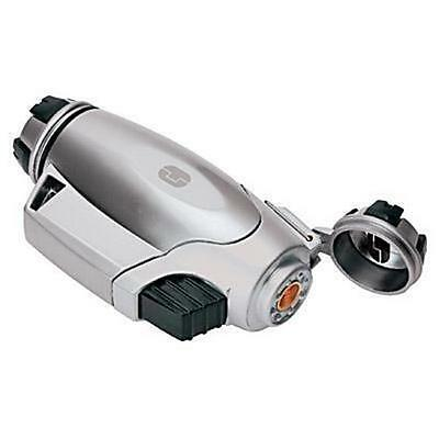 TRUE UTILITY TURBOJET WIND PROOF LIGHTER 1300c FISHING CAMPING BUSHCRAFT SILVER