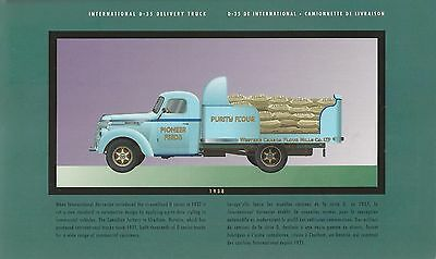 1935 Harvester International D-35 Delivery Truck Canadian Postcard With Stamp