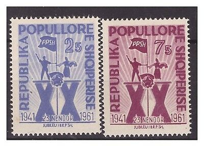 Albania  1961  -  Workers Party     Mnh Set   **