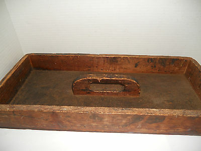 Vintage Antique Wooden Tray Tote Caddy Wood Utensil Letter Cutlery Garden Box