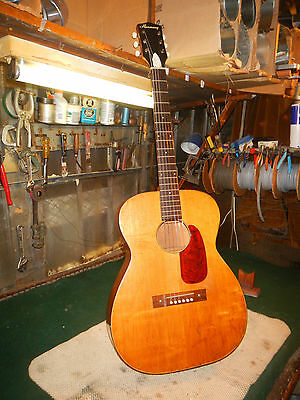 1960's Vintage Harmony Acoustic Guitar Mahogany Top Back sides rosewood board
