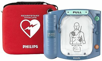 AED Philips HeartStart Onsite Defibrillator + New Battery + Pads + Case Warranty