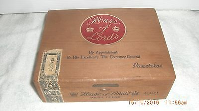 Vintage House of Lords Cigar Box