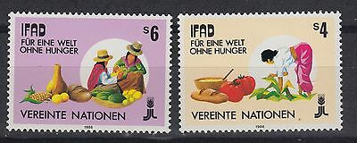 UNO VIENNA : Yvert 79-80 (1988) – Freedom from hunger -  MNH **