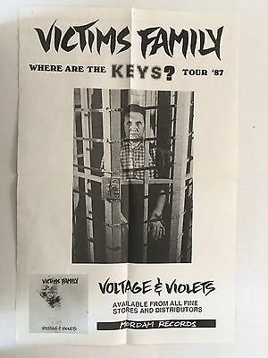 """Victims Family """"Where are the Keys/"""" Tour 1987 Poster"""