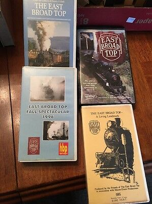 East Broad Top Railroad VHS Movie Lot Of 4 Train Railway