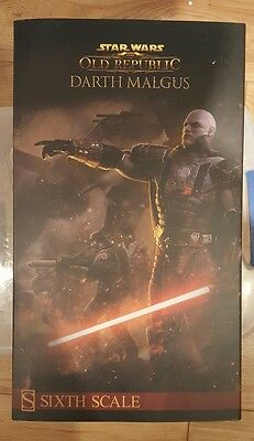 Sideshow Darth Malgus EXCLUSIVE OPENED AND DISPLAYED
