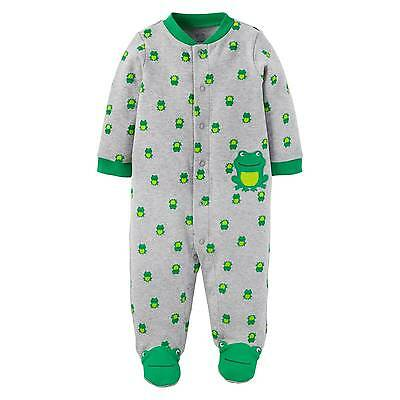Baby Boys' Cotton Frog Sleep N Play Grey - Just One You™ Made by Carter'...