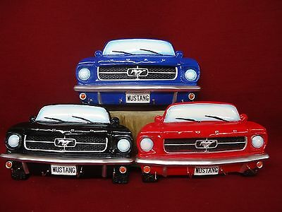 Ford Mustang Key Rack Holder Hook - Choice of Blue Red or Black - Hand Painted